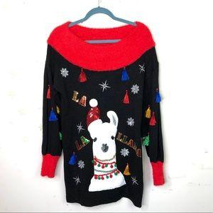 Holiday time ugly Christmas sweater